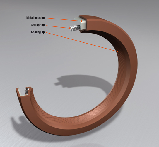 Construction of a conventional oil seal with
